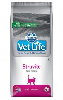 Vet Life Cat Struvite, диета для кошек при МКБ / Farmina (Италия)
