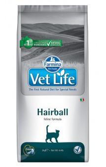 Vet Life Cat Hairball, корм для выведения шерстяных комочков / Farmina (Италия)