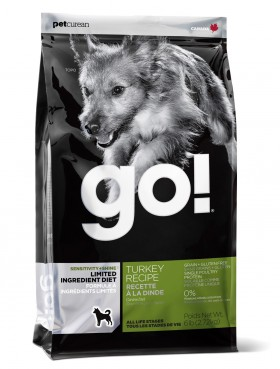 GO! SENSITIVITY + SHINE LID TURKEY, корм для собак с Индейкой / Petcurean (Канада)