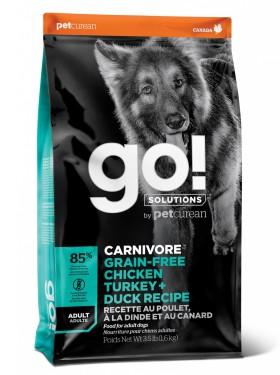 GO! CARNIVORE GF, 4 вида мяса, корм для собак / Petcurean (Канада)