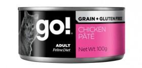 GO! Natural Holistic Grain Free Chicken Pate Cat, консервы беззерновые с Курицей для кошек, паштет / Petcurean (Канада)