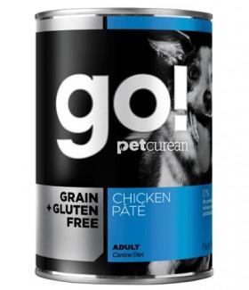 GO! NATURAL Holistic Grain Free Chicken Pate, консервы беззерновые с Курицей для собак, паштет / Petcurean (Канада)