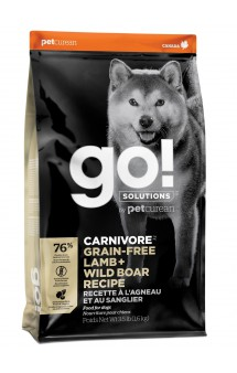 GO! CARNIVORE GF Lamb + Wild Boar, корм для собак, с Ягненком и Кабаном / Petcurean (Канада)
