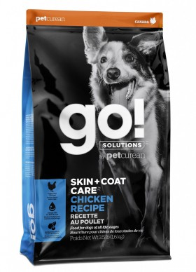 GO! Skin + Coat Chicken Dog Recipe, корм для собак с цельной курицей, фруктами и овощами / Petcurean (Канада)