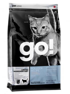GO! Sensitivity + Shine Grain Free Pollock Cat Recipe, корм для чувствительных котят и кошек, Минтай / Petcurean (Канада)