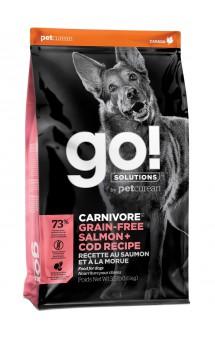 GO! CARNIVORE GF Salmon + Cod, корм для собак, с Лососем и Треской / Petcurean (Канада)