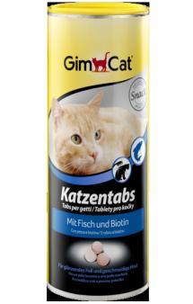 GimСat Katzentabs, таблетки с рыбой и биотином / Gimborn (Германия)