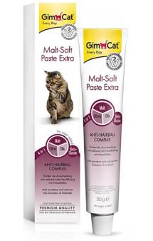 GimСat Malt-Soft Paste Extra, Мальт Софт Экстра паста для выведения комков шерсти / Gimborn (Германия)