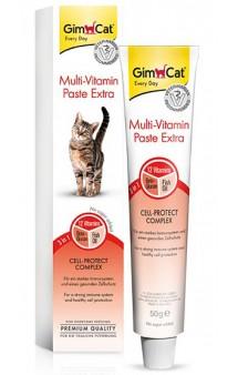 GimСat Multi-Vitamin Paste Extra, Мультивитаминная Экстра паста для укрепления иммунной системы кошки / Gimborn (Германия)