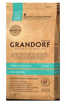 GRANDORF 4 Meat and Brown Rice All Breeeds, корм для собак, с пробиотиками, 4 мяса / United Petfood Producers NV (Бельгия)