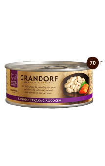 GRANDORF, Куриная грудка с Лососем в собственном соку / Asian Alliance International Co., Ltd. (Тайланд)