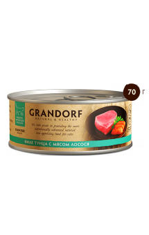 GRANDORF, филе Тунца с Лососем в собственном соку / Asian Alliance International Co., Ltd. (Тайланд)