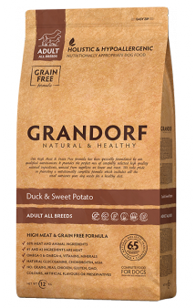 GRANDORF Duck and Potato Adult All Breeds, корм с Уткой для собак всех пород / United Petfood Producers NV (Бельгия)