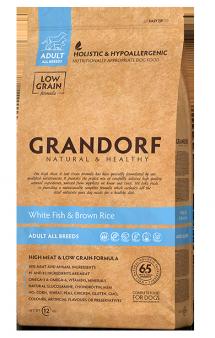 GRANDORF White Fish and Rice Adult All Breeds, корм для чувствительных собак, с Рыбой / United Petfood Producers NV (Бельгия)