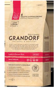 GRANDORF Lamb and Rice Adult Indoor, корм для домашних кошек / United Petfood Producers NV (Бельгия)