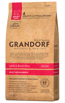 GRANDORF Lamb and Rice Adult Medium, корм для собак средних пород, с Ягненком / United Petfood Producers NV (Бельгия)
