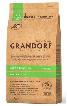 GRANDORF Lamb and Rice Adult Mini, корм с Ягненком для собак мелких пород / United Petfood Producers NV (Бельгия)
