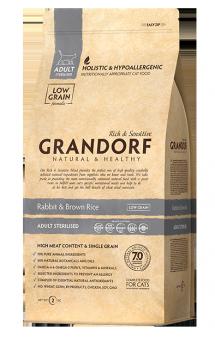 GRANDORF Rabbit and Rice Adult Sterilised, корм для стерилизованных кошек / United Petfood Producers NV (Бельгия)
