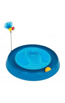 Круглый голубой массажный центр с мячиком и игрушкой-пчелкой / Hagen (Германия)