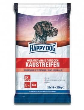 Жевательные полоски с Говядиной и Телятиной / Happy Dog (Германия)