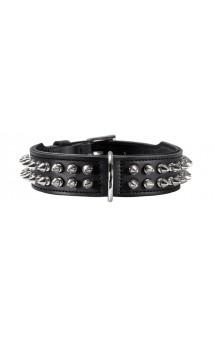 Collar Rambo, ошейник для собак, кожа, черный / Hunter (Германия)