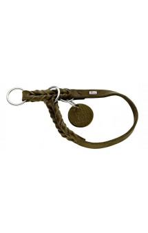 Training Collar Solid Education, ошейник-удавка для собак, кожа, оливковый / Hunter (Германия)