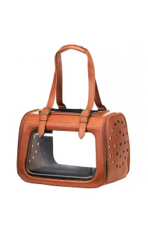 Portico Deluxe, кожаная сумка-переноска для собак и кошек / Ibiyaya (Китай)