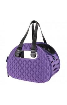 Diamond Deluxe Pet Carrier Складная сумка-переноска, фиолетовая / Ibiyaya (Китай)