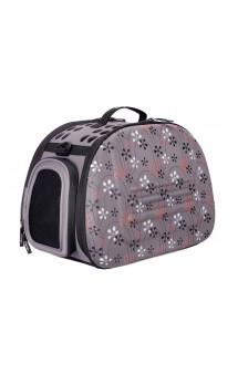 Складная сумка-переноска Серая в цветочек / Ibiyaya (Китай)