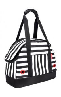 Мягкая сумка-переноска для собак, черно-белая полоска / Ibiyaya (Китай)