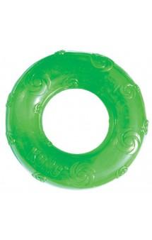 Squeezz Ring, кольцо резиновое с пищалкой, игрушка  для собак / KONG (США)