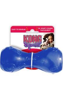 Игрушка  для собак Гантеля резиновая с пищалкой - Squeezz Dumbbell / KONG (США)