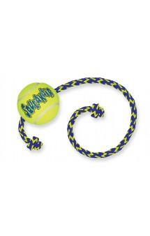 Игрушка для собак Air Теннисный мяч с канатом, средний / KONG (США)
