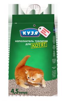 Наполнитель для котят и короткошерстных пород / Кузя (Россия)