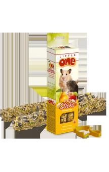 Little One, Палочки для хомяков, крыс, мышей и песчанок, Фрукты и орехи / Mealberry (Германия,Россия)