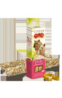 Little One, Палочки для хомяков, крыс, мышей и песчанок, Воздушный рис и орехи / Mealberry (Германия,Россия)