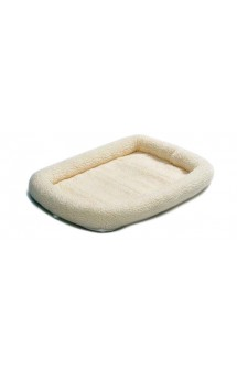 Pet Bed Quiet Time Deluxe, Лежанка флисовая, белая / MidWest (США)