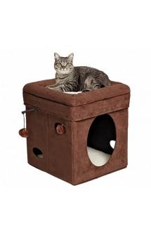 Currious Cat Cube, складной домик для кошек / MidWest (США)