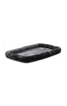 Quiet Time Pet Bed Plush Gray Лежанка меховая, серая / MidWest (США)