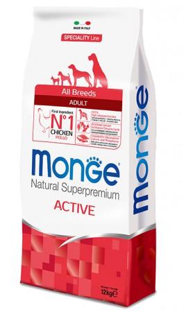 Monge Dog Speciality All Breeds Active with Chicken, корм для активных собак с Курицей / Monge (Италия)