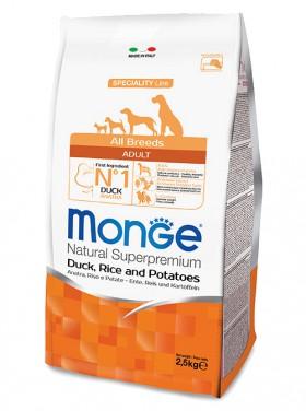 Monge Dog Speciality Adult Duck, Rice and Potatoes, корм для собак, Утка, Рис и Картофель / Monge (Италия)