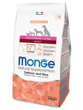 Monge Dog Speciality Extra Small Adult Salmon and Rice корм для миниатюрных собак Лосось с Рисом / Monge (Италия)