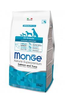 Monge Dog Speciality Hypoallergenic Salmon and Tuna, гипоаллергенный корм для собак, Лосось с Тунцом / Monge (Италия)