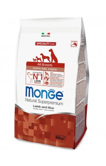 Monge Dog Speciality All Breeds Puppy and Junior Lamb and Rice, корм для щенков с Ягненком и Рисом / Monge (Италия)
