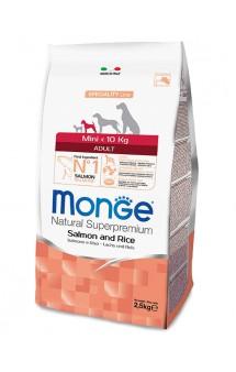 Monge Dog Speciality Mini Adult Salmon and Rice, корм для собак мелких пород Лосось с Рисом / Monge (Италия)