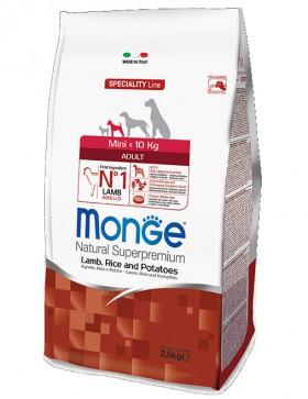 Monge Dog Speciality Mini Adult Lamb, Rice and Potatoes, корм для собак мелких пород Ягненок, Рис и Картофель / Monge (Италия)