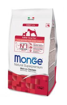 Monge Dog Mini Starter for Mother and baby Rich in Chicken, корм для щенков мелких пород с Курицей / Monge (Италия)