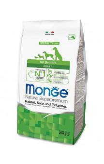 Monge Dog Speciality Adult Rabbit, Rice and Potatoese, корм для собак Кролик с Рисом / Monge (Италия)