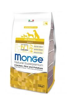 Monge Dog Speciality Adult Chicken, Rice and Potatoes, корм для собак Курица с Рисом / Monge (Италия)