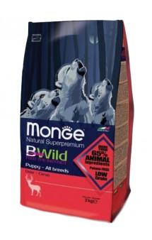 BWild Dog Puppy and Junior Deer, корм для щенков с Олениной / Monge (Италия)